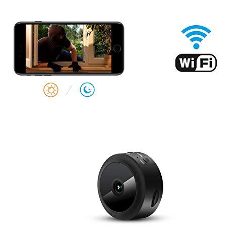 Mini-Kamera,TODAYI Wireless WiFi Mini WLAN Überwachung Kamera Kindermädchen-Kamera mit Bewegungserkennung für iPhone/Android Phone/iPad