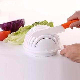 Salatschleuder, Neue Salat Maker Salat Cutter mit Einer Salatschüssel mit Salat Schaufel, Gemüse Cutter Bowl, Maker Gesunde Frische und Einfache Salate