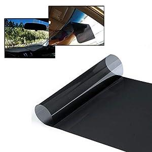 Yuanzhou Film Miroir Film Solaire pour écran de fenêtre de Voiture Fenêtre de véhicule Automobile Teinte Bricolage Glare 20cm x150cm teinté en Noir Clair Extérieur Protection UV Blocage du Soleil