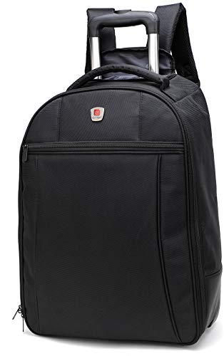 City Bag - Trolley-Rucksack mit Rollen - Handgepäck - 44 Liter Fassungsvermögen - 55 x 40 x 20 cm (Rollen Mit Laptop-rucksack)