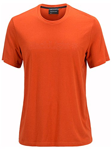 Herren Skiunterwäsche Peak Performance Black Light Logo Funktionsshirt rooibos