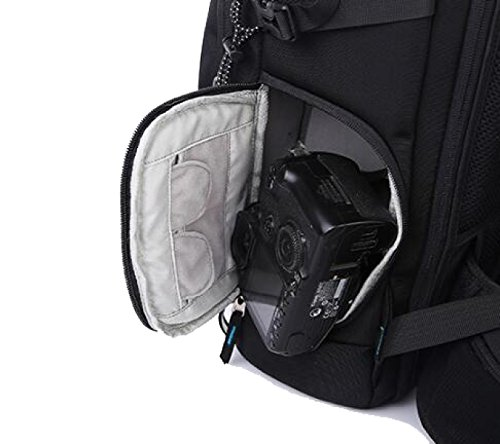 Neuere Kamera-Schlinge Anti-Diebstahl-Rucksack-Kasten Wasserdichtes Leichtes Und Haltbares Für DSLR Und Spiegellose Kamera,BlackA BlackA