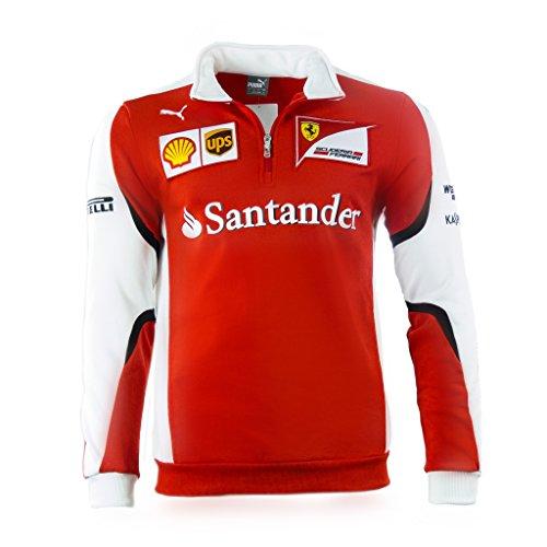 Puma SF Scuderia Ferrari Formel 1 Team Half-Zip Fleece Sweater Pullover rot F1 rot / weiß XS