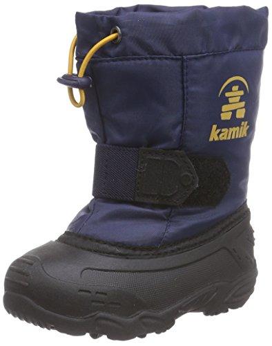 Kamik Tickleeu, Bottes en caoutchouc à tige basse et doublure chaude mixte enfant Bleu (Navy/Bleu/Nav)