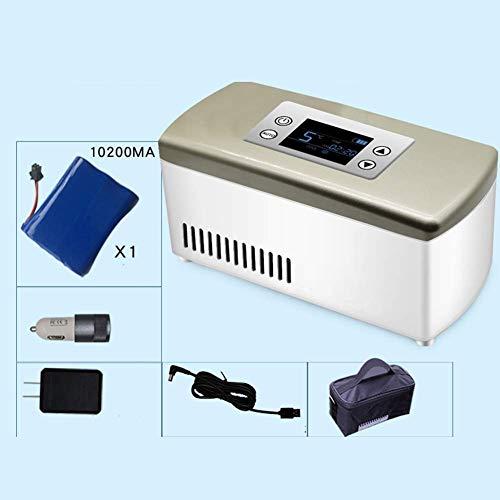LLYU Piccolo frigorifero for insulina, contenitore for farmaci di grande capacità, frigorifero medico, funzionamento a batteria, auto, viaggio, campeggio (Color : Gold)