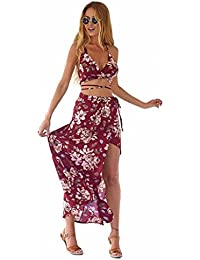 f132455225c9 Internet Donna Vestiti Beach Bohemian Stampa Dress Bandage