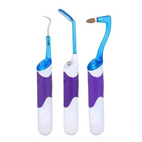 Oral Dental Hygeine Reinigungs-Tool Kits mit LED-Licht Dental Spiegel + Plaque Entfernen + Tooth Stain Radiergummi 3 Stück/Satz -