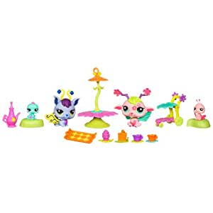Littlest Pet Shop Petshop 2676 à 2679 Scintillant FÉES de JARDIN 	 fasciner par la Célébration - SPELLBOUND CELEBRATION GLISTENING GARDEN FAIRIES