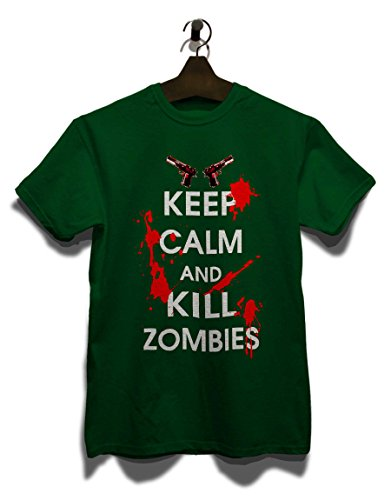 Keep Calm And Kill Zombies T-Shirt dunkelgruen-dark-green XL