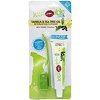 Kissable Kit Dental para Perros Contiene Pasta de Dientes Totalmente Natural y Cepillo de Dientes para el Pelo de Goma, Cepillo de Dedo, Aceite de árbol de té y Vainilla