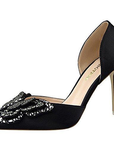 WSS 2016 Chaussures Femme-Décontracté-Noir / Vert / Rose / Rouge / Gris / Nu-Talon Aiguille-Talons-Chaussures à Talons-Soie black-us8 / eu39 / uk6 / cn39