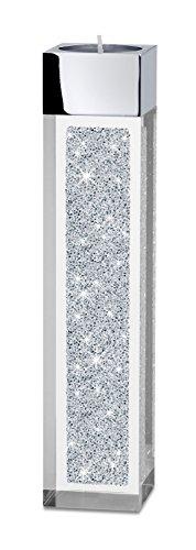 My IMPLEXIONS Moderner Teelichthalter Pylon mittel mit Swarovski Elements Kristallen/Besondere Tisch-Dekoration