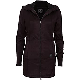 NEW VIEW maglia da donna giacca in pile giacca con cappuccio   giacca in maglia con fodera interna in pile     autunno & inverno Übergangsjacke   lunghezza & Warm Lila s