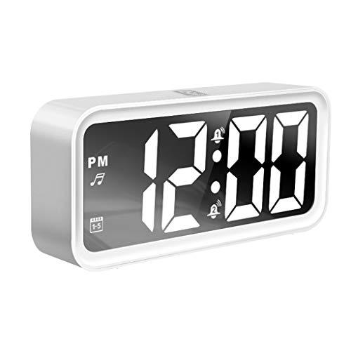 OHGQY Reloj Despertador LED De Carga Silenciador