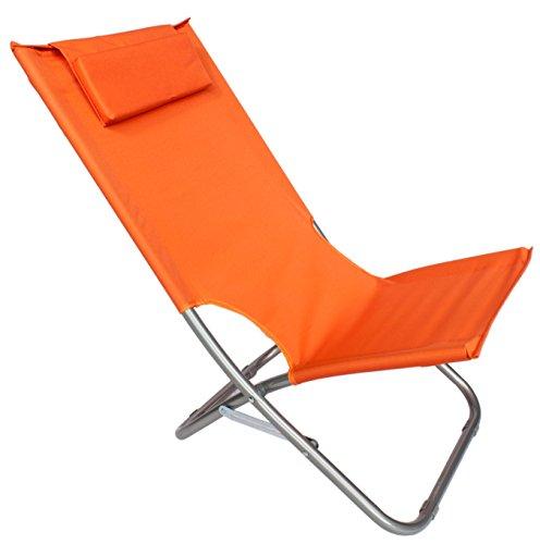 Spiaggina mare sedia sdraio alta pieghevole con cuscino relax tessuto 44103