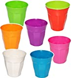 Unbekannt 10 Stück _ Trinkbecher / Becher -  Waffeloptik - Bunte Farben  - 280 ml - aus Kunststoff / Plastik - Tasse - auch als Zahnputzbecher / Malbecher - Kinder & ..