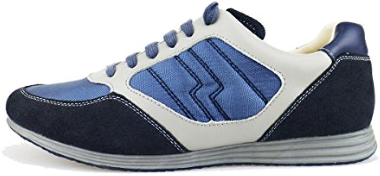 LUMBERJACK Sneakers 40 EU Blau Beige Wildleder Textile Leder AG175