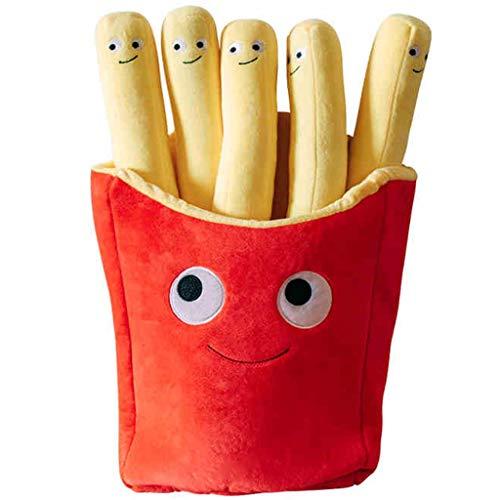 ne Essen Waren Snack Simulation Pommes Frites Große Kissen Plüschtier Kind Geburtstagsgeschenk (Color : French Fries, Size : 50cm/19.6inch) ()