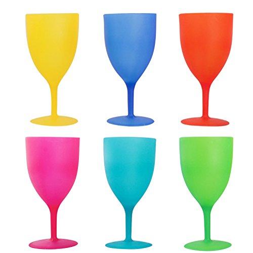 (Colorful Kunststoff Picknick/Party Supply Set–Kunststoff Kelche–6Stück)