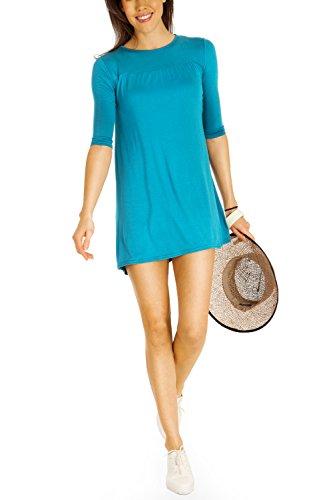 bestyledberlin robes femmes, longtop, blouse t63p Verde