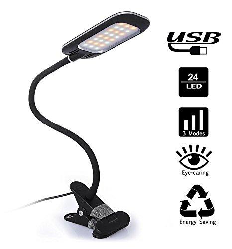 Augenschutz Tragbare Flexibel LED Lampe mit USB Steck Kleinem Clip und Drei Dimmen Leselampe Schreibtischlampe Arbeitslampe Nachtlampe