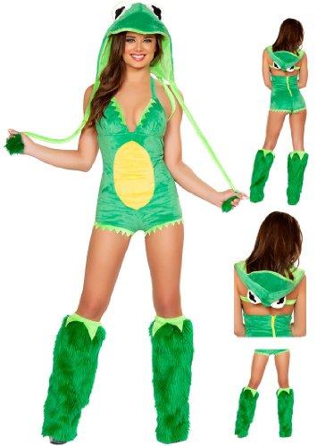 Frosch Kostüm Prinzessin - DLucc Halloween-Kostüm -Kleidkleid Diskothek geladen Frosch -Spiel -Service Tierplüschtiermodellen