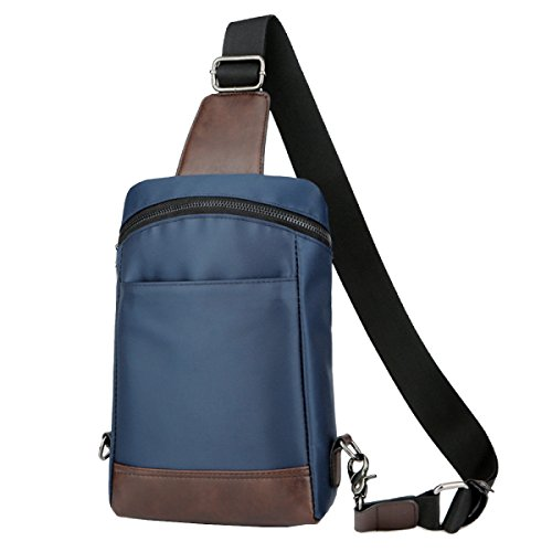 Yy.f Herren-Brusttasche Freund Geschenk Taschen Geldbörsen Diagonal Brustbeutel Mannbeutel Feste Tasche Kühltasche 2 Farbe Blue