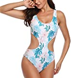 Yvelands Damen Badeanzug Siamese Bikini Set Push-Up StripeSwimwear Beachwear Bikini (CN-S,Blau)