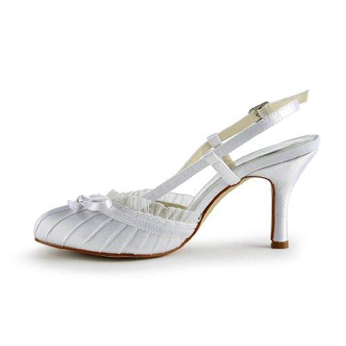 Jia Jia Wedding A31B11 Scarpe Sposa Scarpe col tacco donna Bianco