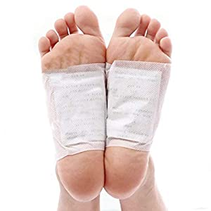 Detox Fußpflaster (100 Packung) – 100 x Fußpflaster (6x8cm) mit 100 x Klebefolien (12x10cm) zur Schnelle Entschlacken und Stressabbau