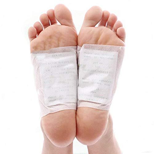 Detox Fußpflaster (100 Packung) - 12.1x10cm Klebefolien und 5.8x7cm Fußflecken zur Schnelle Entschlacken und Stressabbau