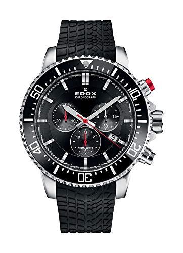 Edox 10227 TINCA NIN - Reloj de Pulsera para Hombre (cronógrafo de Titanio, Fecha, analógico, Cuarzo)