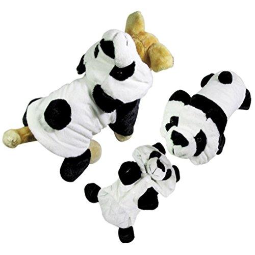 Panda Dog! Upxiang Herbst Winter Warm Haustier Welpen Hunde Welpen katze Kleidung, nettes Panda Winter warmer Outwear Mantel Kleid, Weihnachten Hundekleidung Winter Hundekostüm (M, Panda) (Superman Dog Kostüm Große)