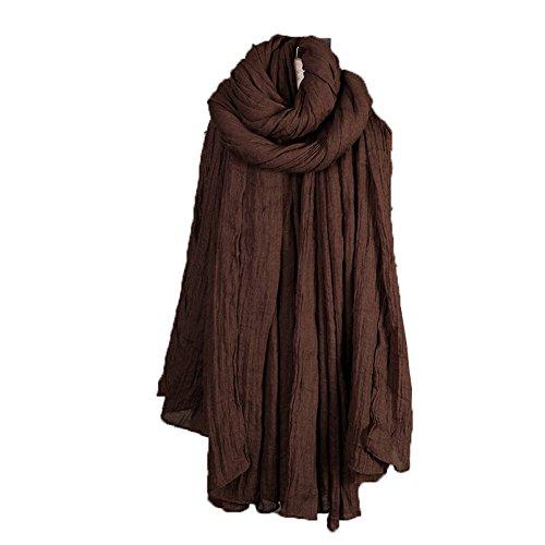 Longue bonbons Couleurs de Hualing Femmes Cashmere Scarf Wrap Chale Stole Foulards souples (19 couleurs) Caf¨¦ noir