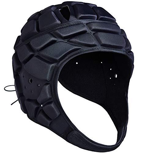 COOLOMG Herren Jungen Kopfschutz Helm Sport Training Rugby Football Torwart Tormann Kopfprotektor Unterstützung verstellbar