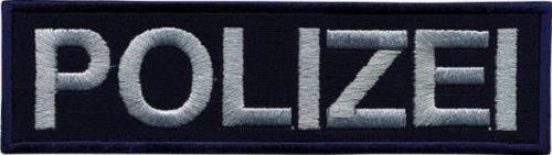 Aufnäher Applikation - Polizei - 00413 - Gr. ca. 14,5cm x 4,5cm (Patches Für Die Polizei)