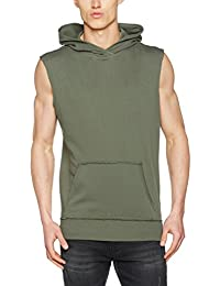 Urban Classics Open Edge Sleeveless Hoody Sweat à capuche noir