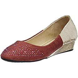 Jove Women's Red Pumps and Peeptoes - 4 UK