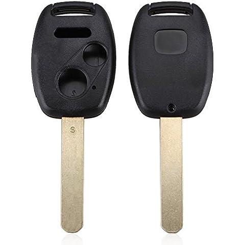koola de Keyless Uncut Blade Replacement Mando a Distancia sin llave Carcasa de llave para honda 2botones de +
