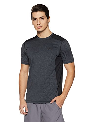 Ss-stretch-shirt (Under Armour Herren UA RAID SS' Kurzarmshirt Fitness-T-Shirts & Tanks, Stealth Grey/Black, XXXL)
