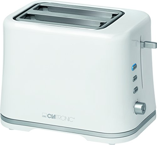 Clatronic Automatic Toaster TA 3554 black-silver Compact 2-slice toaster Removable bread-roll holder Cool-touch housing Reheat function Defrost function Quick-stop function