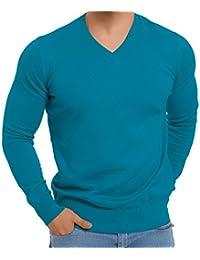 Original CELODORO Exclusive Herren V-Neck Pullover - Longsleeve - 100% gekämmte Baumwolle - Highest Standard! - Viele modische Farben! Größen S-3XL wählbar.