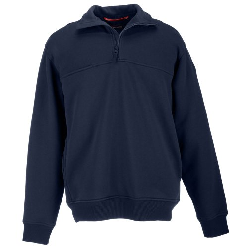 5.11 Tactical Job Sweat-Shirt 1/4 Zip Homme, Fire Navy, FR : L (Taille Fabricant : L)