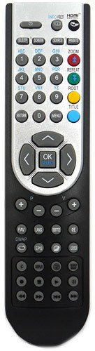 GRC © ® RC1900 Remote Control for isis * matsui * Wharfedale * Ferguson * Acoustic Solutions * Alba * Next * Luxor * Jmb * Finlux * Sanyo * Hitachi * Grundig * Celcus * Digihome * Techwood * TV`S