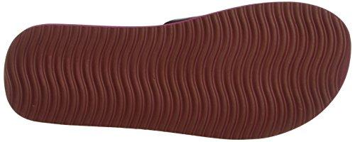 flip*flop Original Cross Metallic, Mules Femme Rouge - Rot (Sangria 654)
