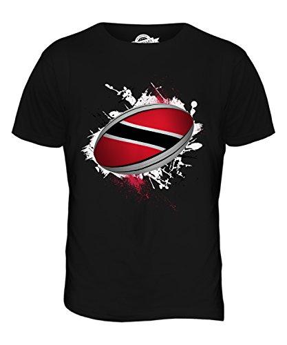 CandyMix Trinidad Und Tobago Rugby Ball Herren T Shirt Schwarz