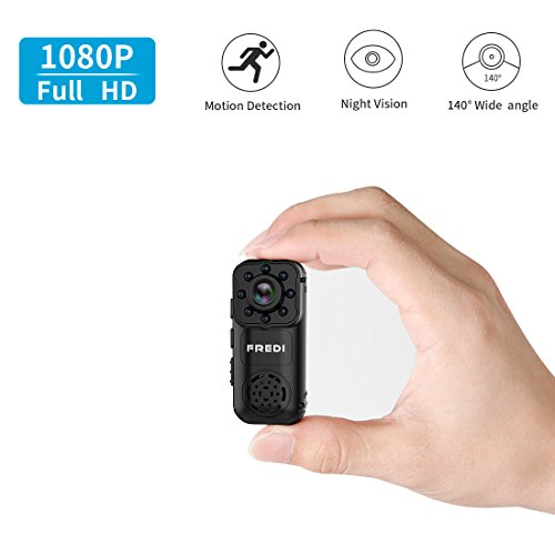 Spy Camera, FREDI HD 1080P Mini Portable Hidden Camera Indoor/Outdoor WiFi Security IP Camera with Motion Detection