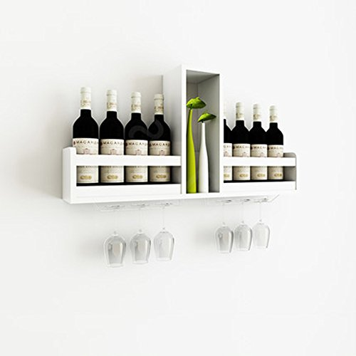 Meiduo cremagliera del vino scaffale da parete per armadio da parete moderno mensola semplice compilare qualsiasi spazio (colore : bianca)