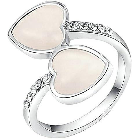 Anelli Donna Matrimonio Placcato Oro Cerchio Rotondo
