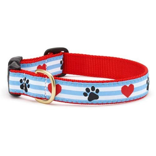 Up Country Pps-C-S Pawprint Stripe Hundehalsband S Schmal (5/8
